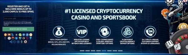 Online Casino with BTC, ETH, XRP, LTC, XMR, BCH, ETC, DASH, PAX, DAI, USDC, TUSD, BNB