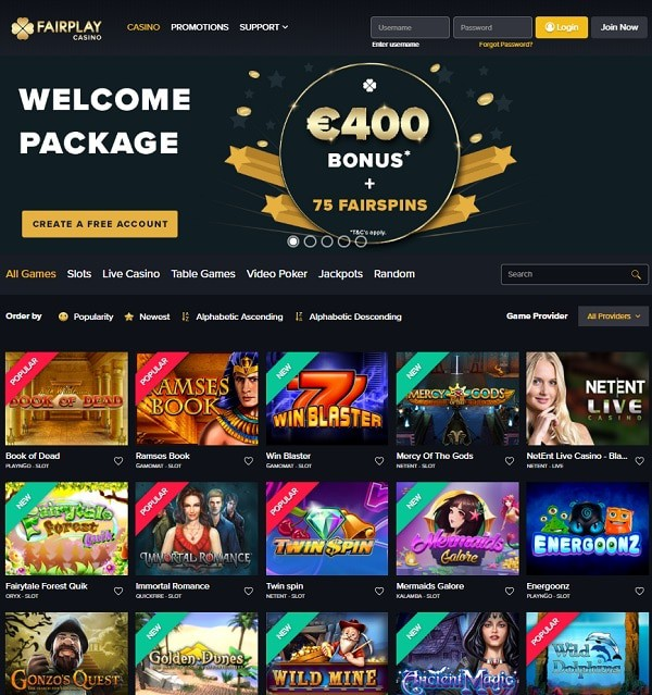 Fairplay Casino Review & Rating
