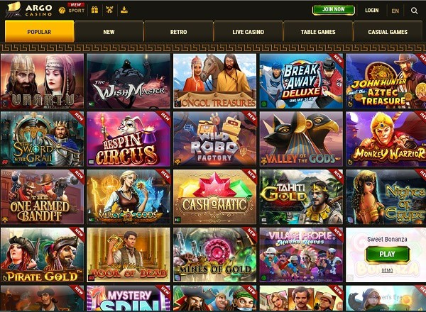 Argo Online Casino Review