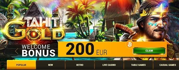 200 EUR welcome bonus at Argo Online Casino