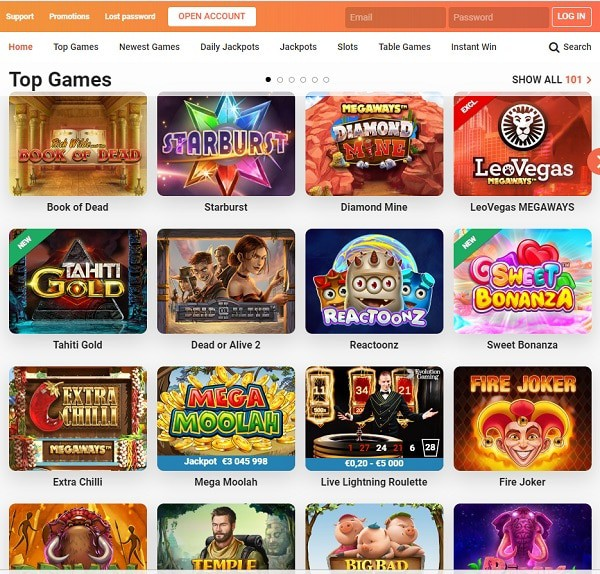 Leo Vegas Casino mobile games