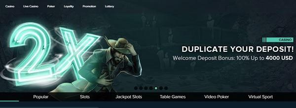 2x deposit bonus for new players