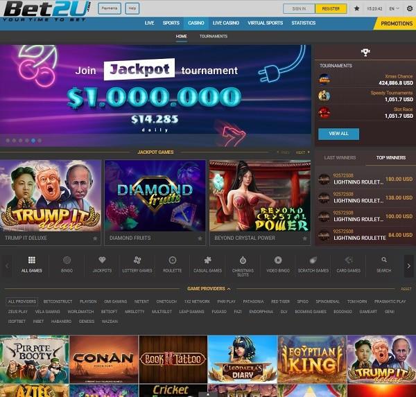 BET2U Casino Online Review