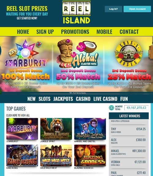 Reel Island Casino Review: $/€/£700 free bonus and 100 free spins