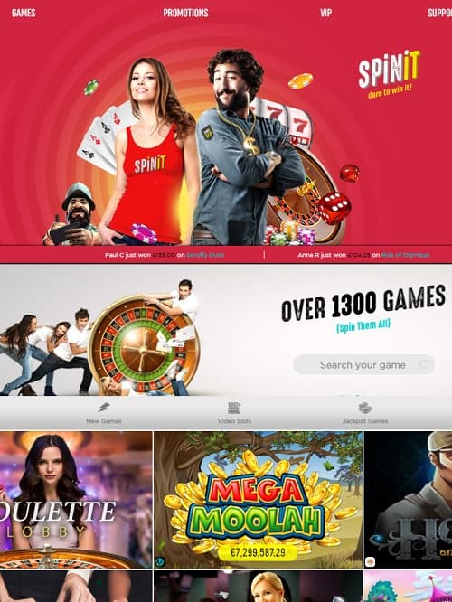 Spinit Casino Review | €/£/$ 1000 gratis and 200 free spins in bonuses