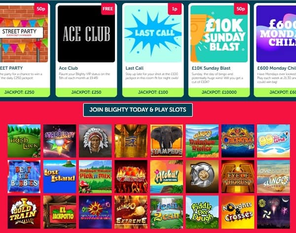 Blighty Bingo Casino Review: 10 free spins & £70 no wager bonus
