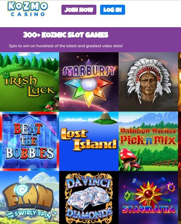 Kozmo Casino Review: 25 free spins no wager welcome bonus code