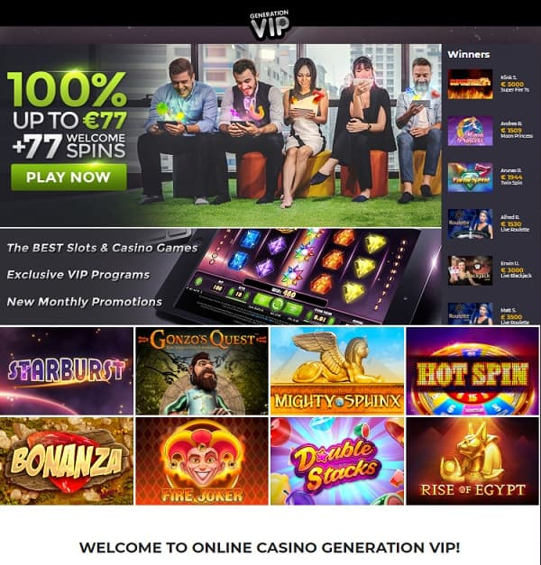 GenerationVIP Casino Review