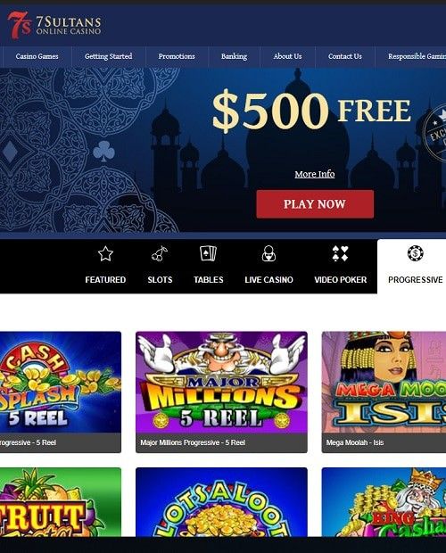 7Sultans Casino free play games