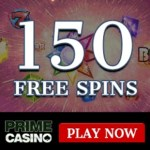 Prime Casino 150 free spins and €1000 gratis bonus