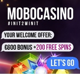 Mobo Casino 200 free spins + 275% up to €600 bonus for PC & mobile