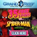 Grand Reef Casino | 35 free spins & 1000% bonus up to €5000 | review