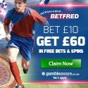 BETFRED – £60 bonus in casino free spins and sport free bets