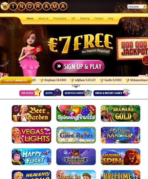Winorama casino free bonus