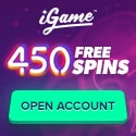 iGame Casino 450 free spins and no deposit bonus