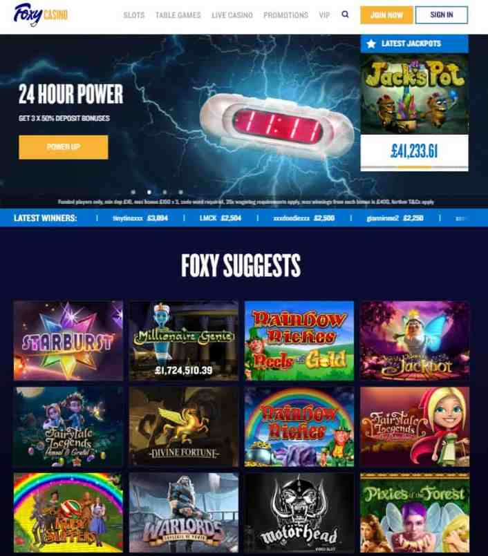 Foxy Casino review