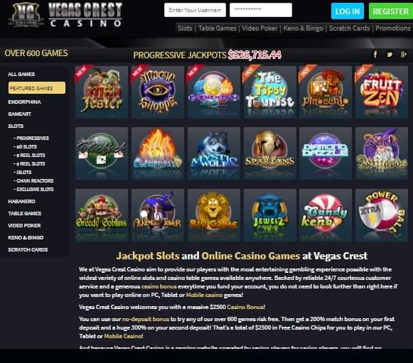 Vegas Crest free bonus