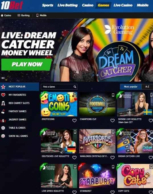 10Bet.com Casino & Sports - Review