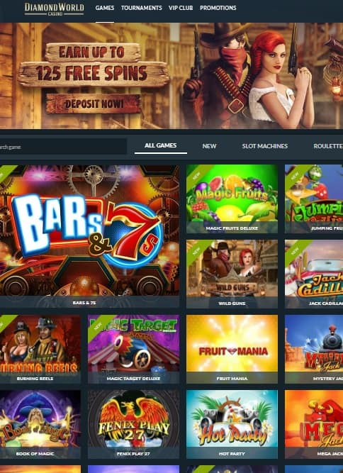 Diamond World Casino Review