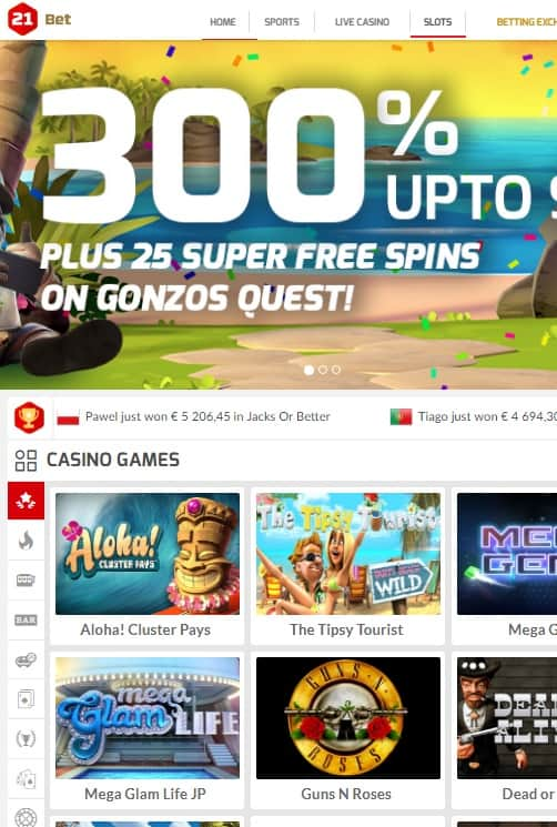21 Bet Casino Review