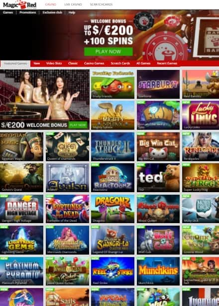 MagicRed Casino Review