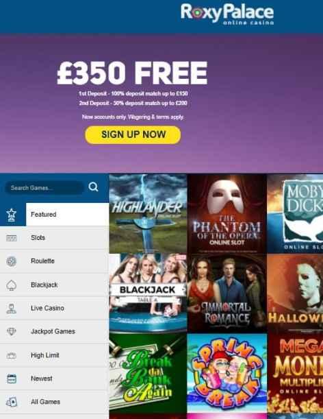 Roxy Palace Casino free spins
