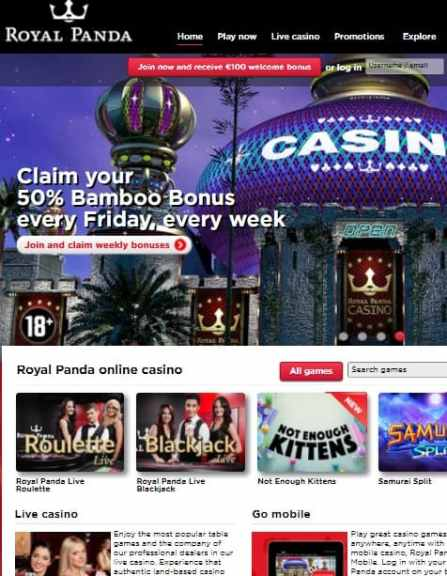 RoyalPanda Online Casino Review