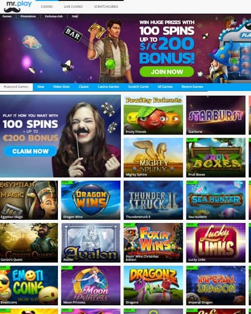 Mr Play Casino free spins bonus