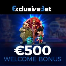 ExclusiveBet Casino 125% up to €500 bonus and 100 free spins