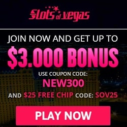 Slots of Vegas Casino $30 free chip code and $3000 welcome bonus