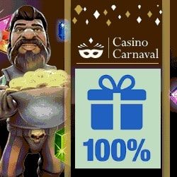 Casino Carnaval $100 gratis bonus and free spins on deposit