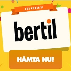 Bertil Casino (SE, NO, FI) - 250 free spins and 1,000 kr welcome bonus