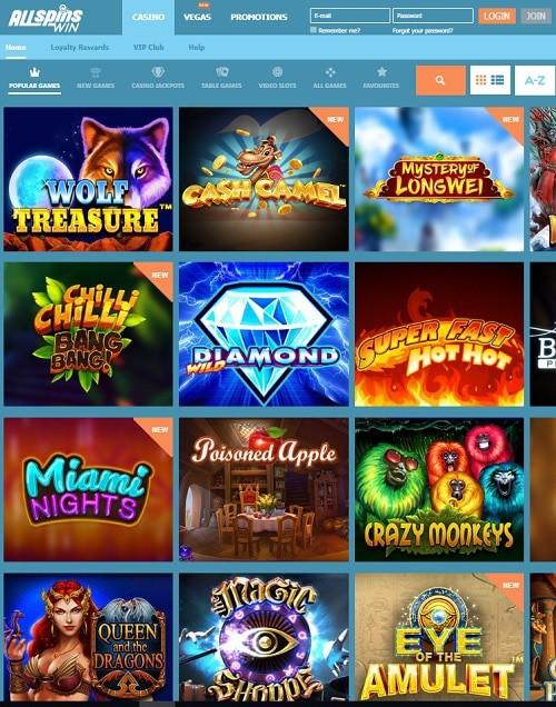 All Spins Win - online casino bonus