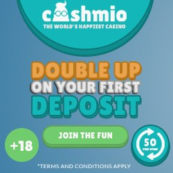 Cashmio Casino [register & login] 20 free spins gratis no deposit bonus