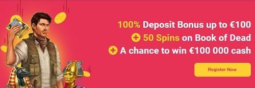 Omnia Casino welcome bonus