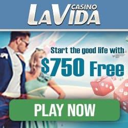 Casino LaVida - 30 free spins and 250% up to €750 free bonus