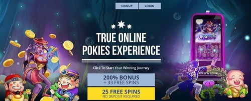 True Blue Casino free spins bonus