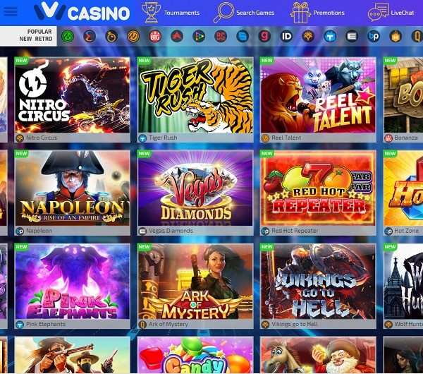 IVI Casino screen review