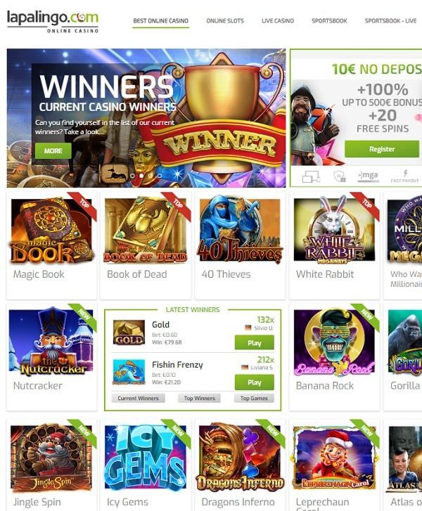 Lapalingo Casino Online & Mobile
