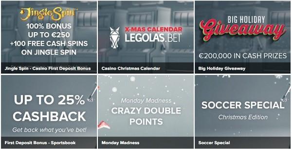 Legolas 100 free spins and 100% welcome bonus