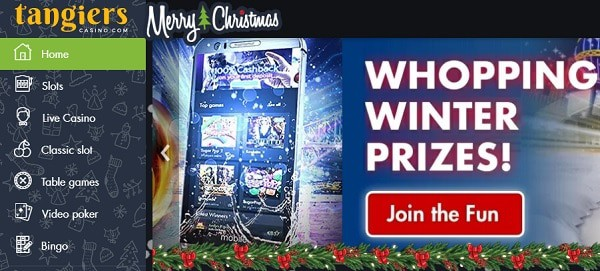 Tangiers Casino Christmas Bonuses & Promotions - Advent Calendar