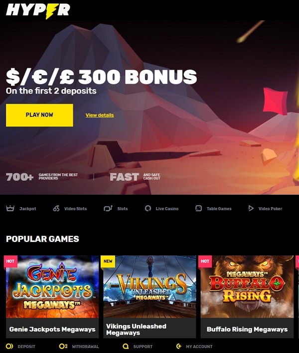 Hyper Online Casino Review