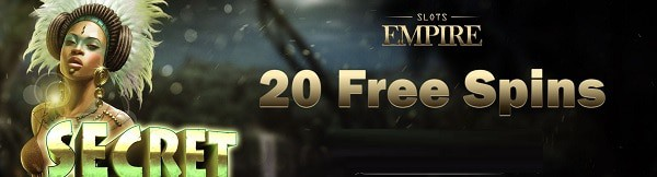 Slots Empire Casino 20 free spins no deposit required