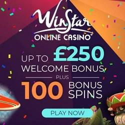 WinStar Casino Online - 100 free spins & €250 welcome bonus