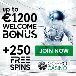 GoPro Casino 250 free spins and €1200 welcome bonus