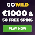GoWild Casino 50 free spins and 1000 EUR welcome bonus