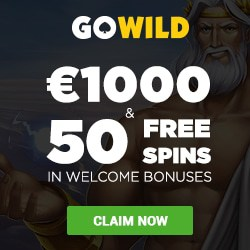 GOWILD Casino 50 free spins and $/€1,000 exclusive bonus