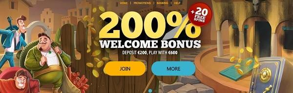 Spinaru Casino welcome bonus and promotion
