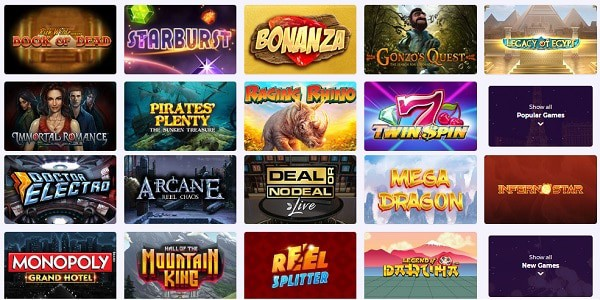 Slot Planet Casino games and software providers