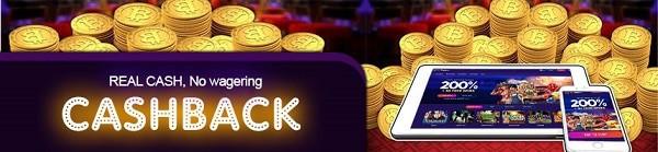 cashback wager-free bonus
